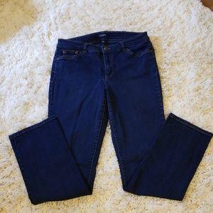Chaps Daniella Curvy Datk Blue Jean's Size 6